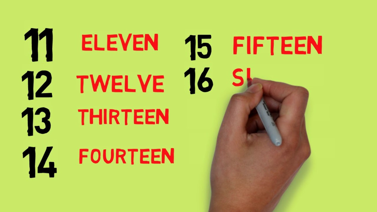 Download LEARN NUMBER 1 TO 20 WITH ENGLISH SPELLING FOR KIDS ,TODDLER