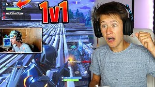 NINJA 1V1 VS MY LITTLE BROTHER IN FORTNITE! LITTLE BROTHER PLAYS LIKE NINJA! CRAZY 1V1 IN FORTNITE!