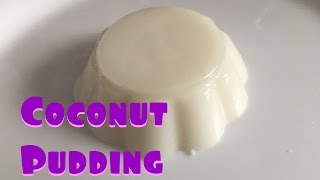 SIMPLE Coconut Milk Pudding Recipe (ONLY 4 ingredients) | 椰汁糕