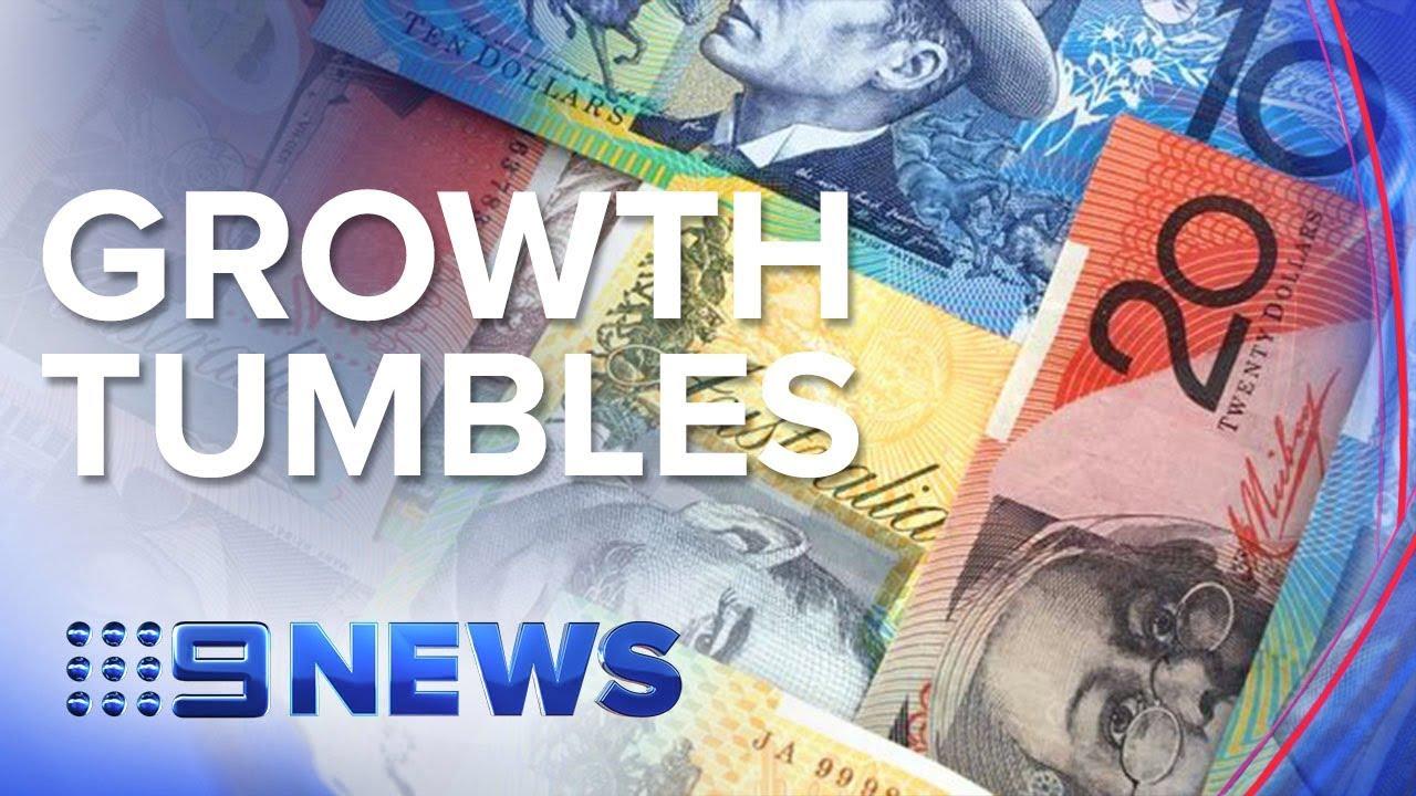 Australia falls into per-capita recession as economy slows   Nine News Australia