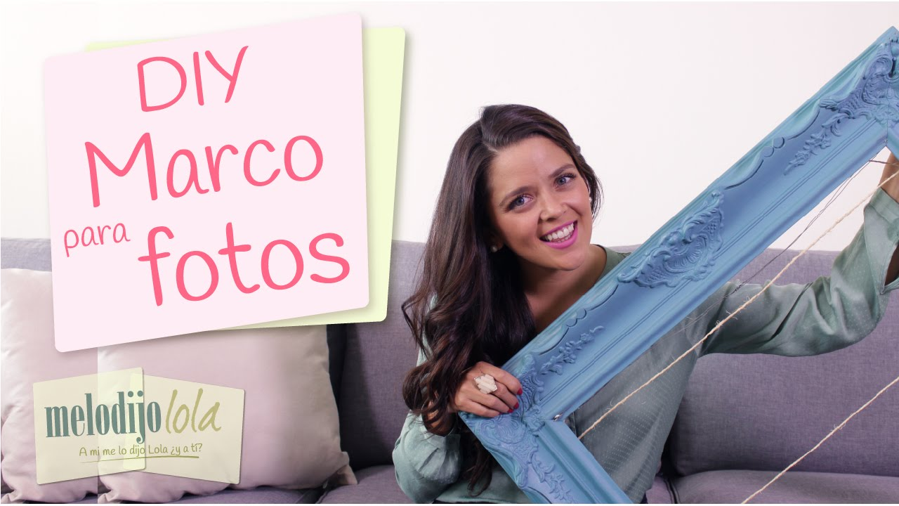 DIY Marco para fotos | Cómo hacer un marco para fotos | How to make ...