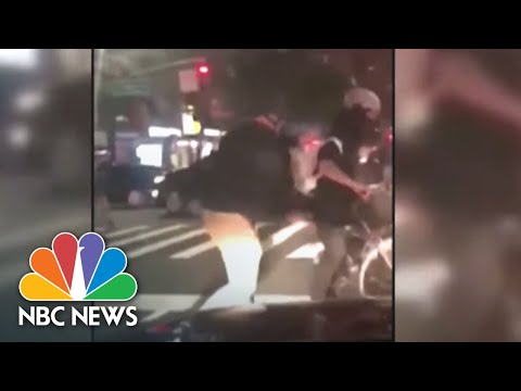Video Appears To Show Officers Hitting Cyclist On Manhattan Street | NBC News