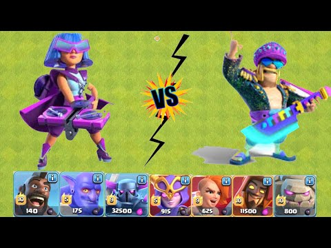 New Heroes Challenge | Party Queen Vs Beat King On Coc | Clash Of Clans |