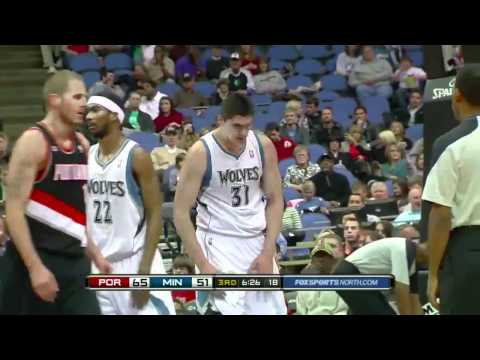 Nicolas Batum dunks on Darko (Feb. 14, 2011)