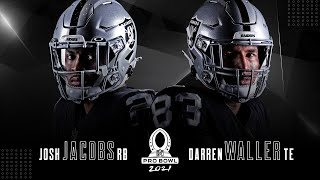 Tight end darren waller and running back josh jacobs have been voted to the 2021 pro bowl will represent silver black.visit https://www.raiders.c...