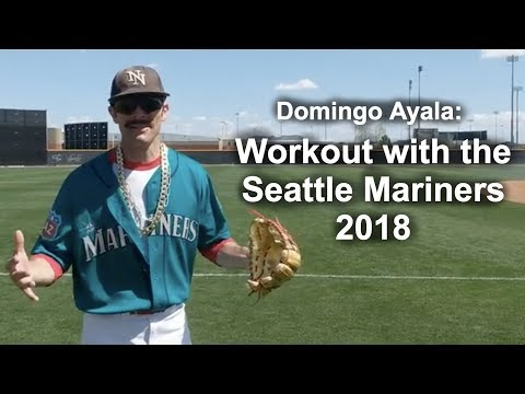 Domingo Ayala Workout with the Seattle Mariners Spring Training 2018