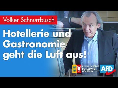 """Volker Schnurrbusch (AfD): """"Gastronomie und Hotellerie geht die Luft aus!"""""""