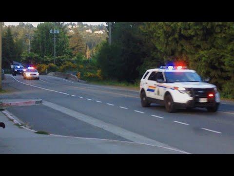 *EXTREMELY RARE* 6 West Shore RCMP Units & 2 BC Ambulance Units Responding