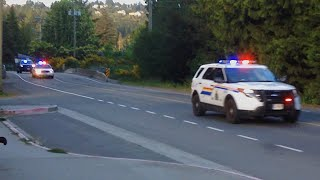 *EXTREMELY RARE* 6 West Shore RCMP units & 2 BC Ambulance units responding