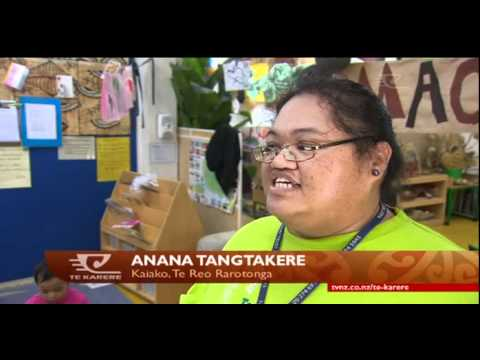 Maori language revival example for Cook Island
