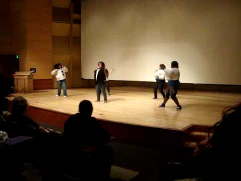Zetas steppin at UW Young Gifted and Black