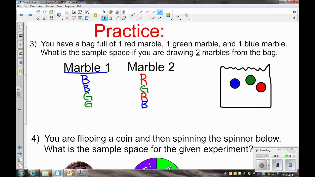 9 18 math 6 sample space example - YouTube