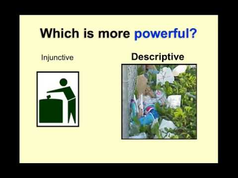 descriptive and injunctive norms Norms) and by knowledge of how people feel they should behave (injunctive norms) these norms are most likely to impact the behavior of others when the way people feel they should behave is in line with how they actually do behave.