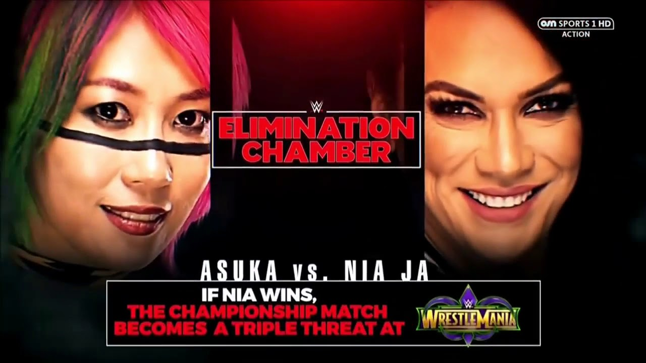 WWE Elimination Chamber 2018 - Asuka vs. Nia Jax - Official Match ...