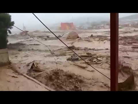 The capital Luanda is flooded! Flash flooding in Angola. Africa.