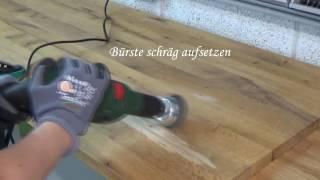 Holz künstlich altern lassen - Teil 1 Bürsten