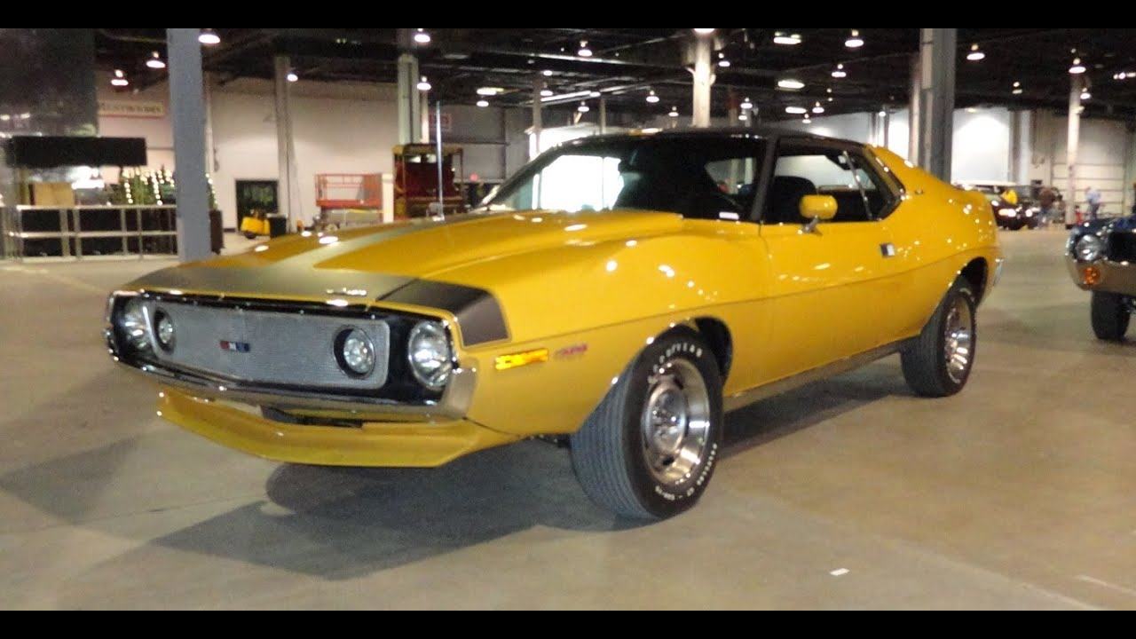 1971 american motors amc javelin amx 401 in mustard yellow for American classic motors for sale