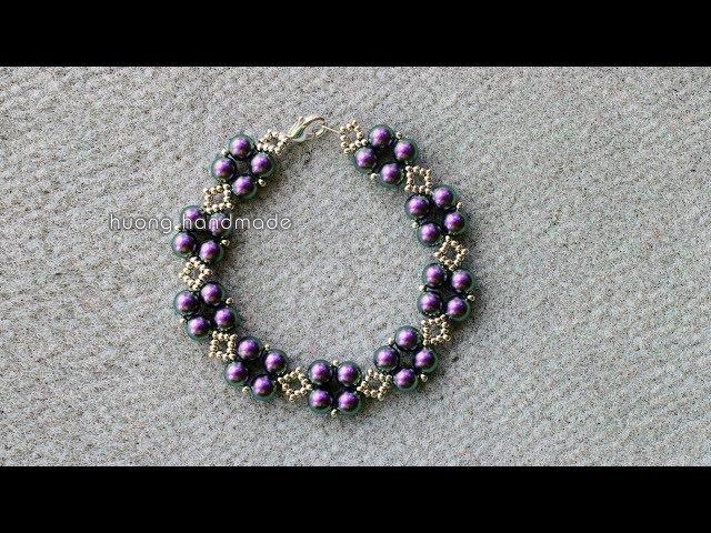 Luxury beaded bracelet || Diy beaded bracelet || Boncuklu kolay bileklik yapımı || Làm trang sức