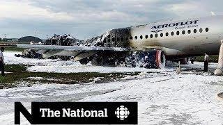 Russian passenger plane bursts into flames killing dozens