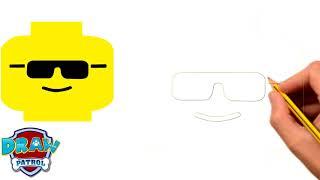 How To Draw Lego Emoji - Easy | Art For Kids Hub