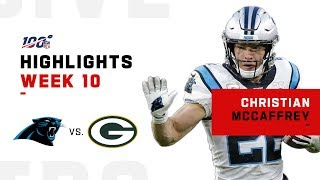 Christian McCaffrey Highlights vs. Packers | NFL 2019