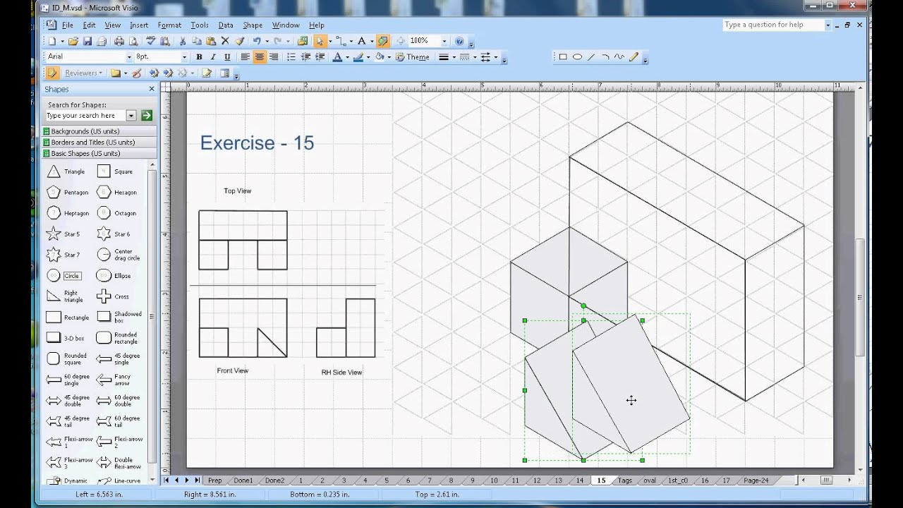 Isometric Drawing - Exercise 15 - YouTube