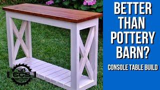 DIY Console Table Build - Entry Way Table