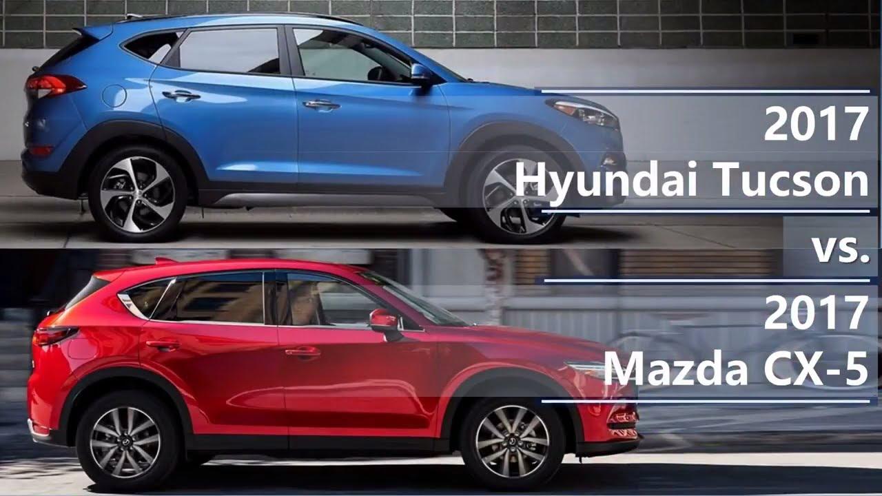 2017 hyundai tucson vs 2017 mazda cx 5 technical comparison youtube. Black Bedroom Furniture Sets. Home Design Ideas