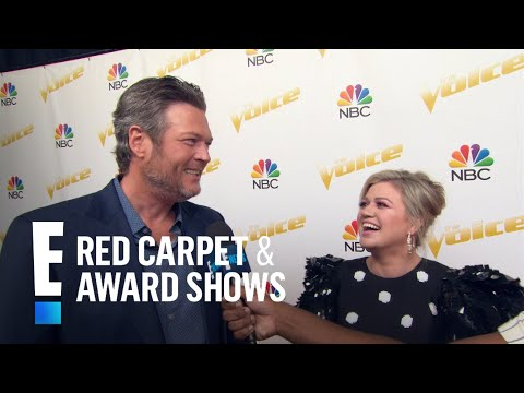 """Blake Shelton Jokingly Calls Kelly Clarkson """"Old as Sh*t""""   E! Live from the Red Carpet"""