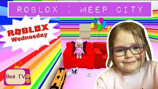 Roblox: Meep City - Decorating my new big house! || Roblox Wednesdays - Ep4 || Bea TV Gaming