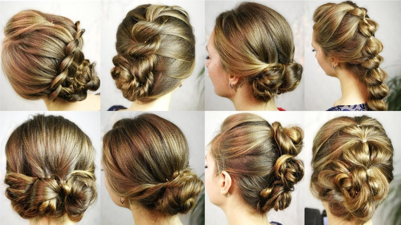 12 Easy hairstyles to make for 12 minutes! - Hairstyles BACK TO SCHOOL every  day, party.