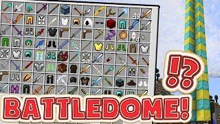 MINECRAFT LUCKY DIP MODDED BATTLEDOME MINIGAME - MINECRAFT MOD MINIGAME CHALLENGE #1