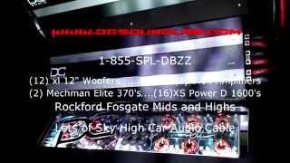 DC Audio Astro Van No passenger side door Over 40,000 watts!!!