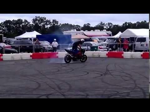 crazy insane Street bike stunts at new jersey motor sports park