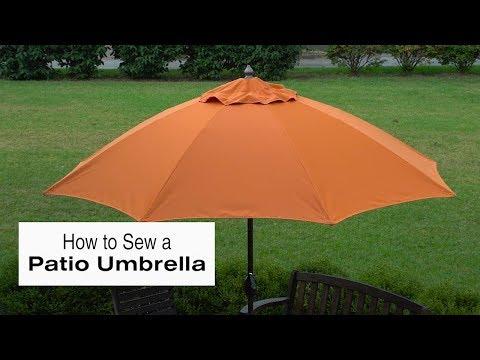 How to Sew a Patio Umbrella