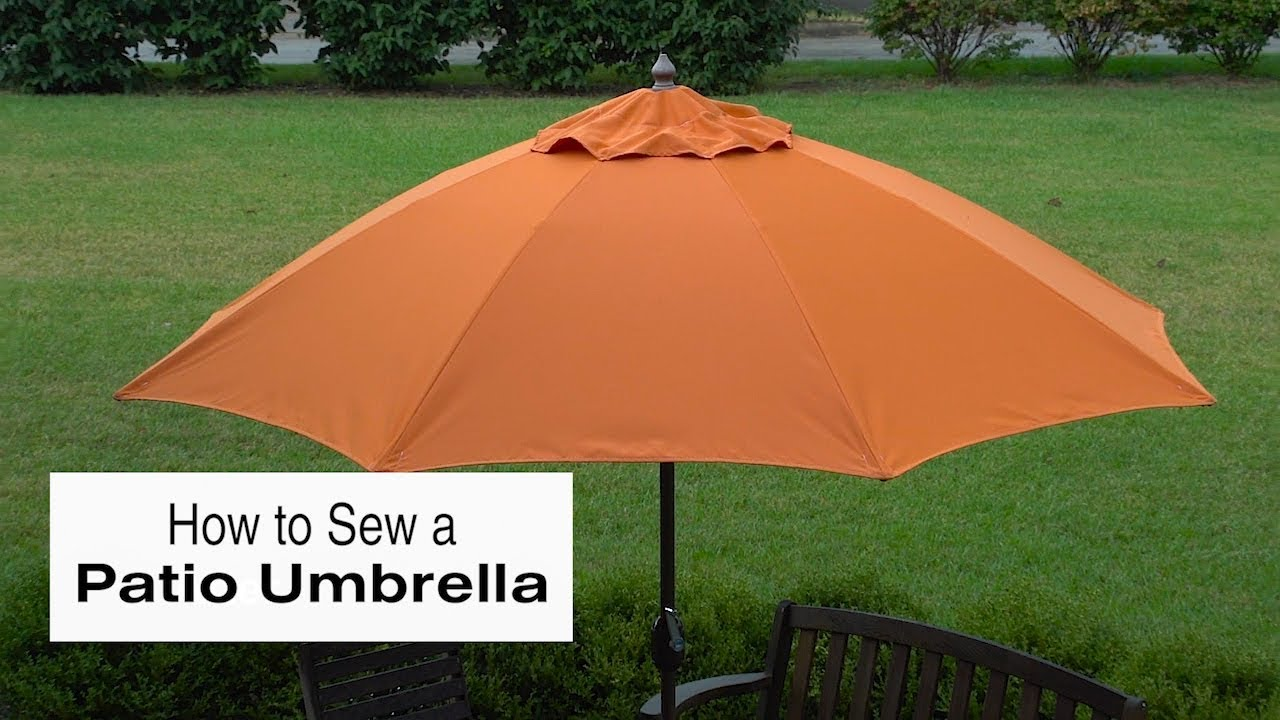 How To Sew A Patio Umbrella   YouTube