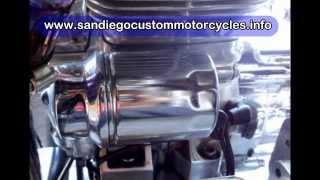 chopper motorcycle oil change