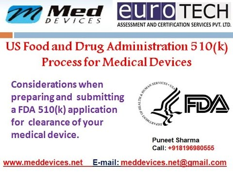 510 k approvals and registration of Medical devices with FDA
