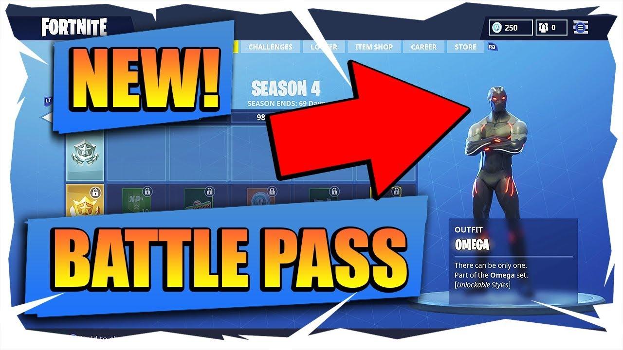 fortnite battle royale battle pass season 4