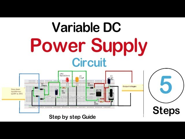 How to make Variable DC power supply | DC power supply Circuit