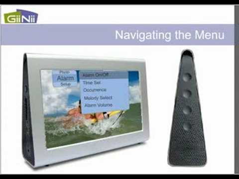 GiiNii 7 inch Wedge Digital Picture Frame User Guide - YouTube