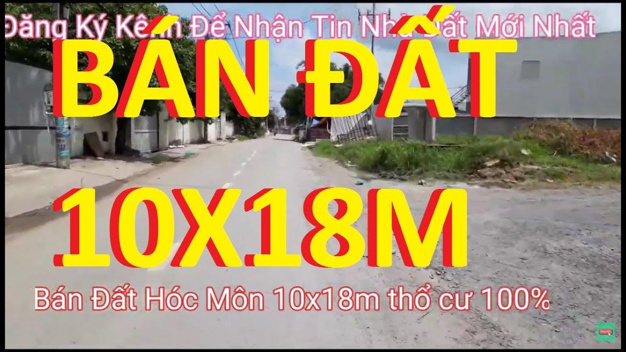 Bán đất Hóc Môn  10x18m thổ cư 100%  Đường thông 10m