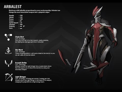 Concept Checkup: Arbalest, the Sniper Warframe