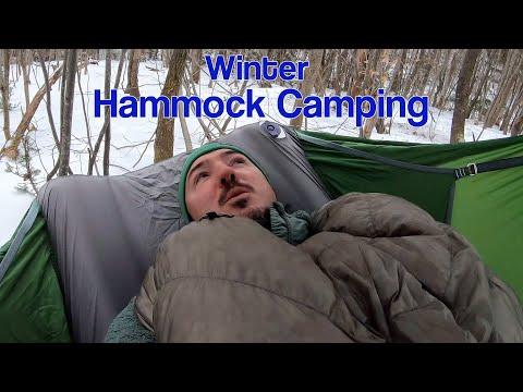 winter-hammock-camping---amok-draumr-xl---snow-on-unknown-pond