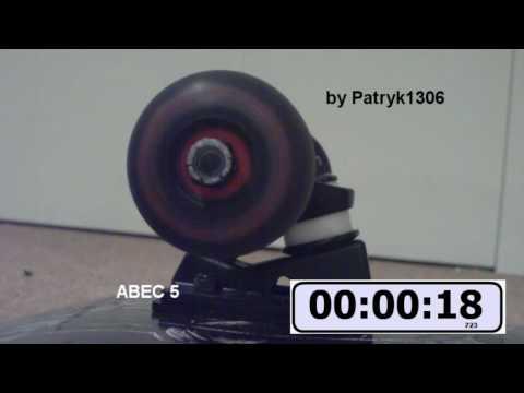 ABEC 5 bearings spin test