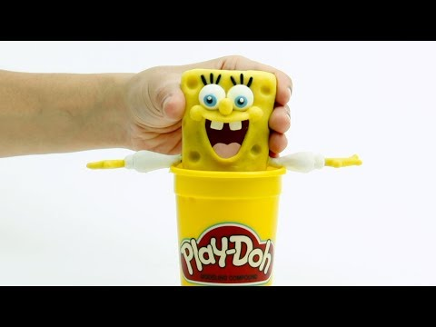 Stop motion Sponge Bob 💕 Superhero Clay cartoons