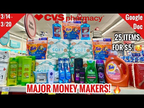 CVS Free & Cheap Coupon Deals & Haul | 3/14 – 3/20 | Money Makers!🔥| 25 Items for $5! 🙌🏽