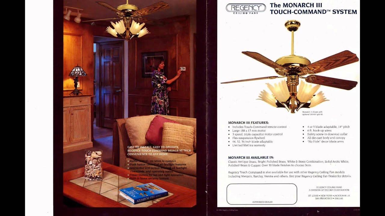 Regency Ceiling Fan Catalog from 1994