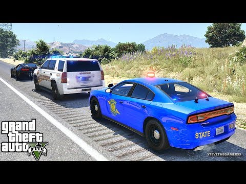 GTA 5 MODS LSPDFR 910 - MICHIGAN STATE PATROL!!! (GTA 5 REAL LIFE PC MOD)