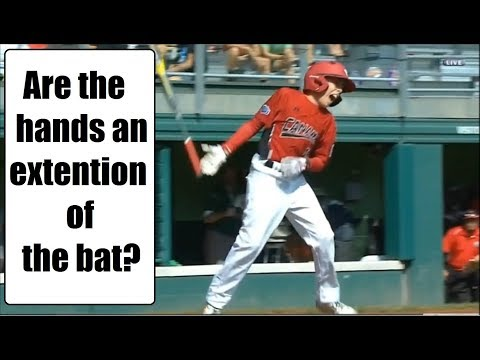 Are the hands an extension of the bat? ESPN commentator thinks so?